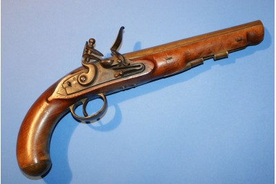 A very Rare Royal Mail Flintlock Pistol by Harding & Son for the Lancaster to Clapham Mail Coach.