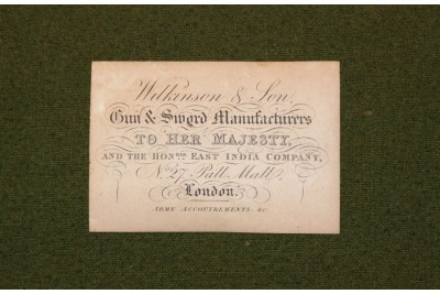 A Rare Victorian Oak Presentation Sword Box with an Original Wilkinson & Son Trade Label