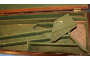 An Early Mahogany Case for Single Flintlock Sporting Gun