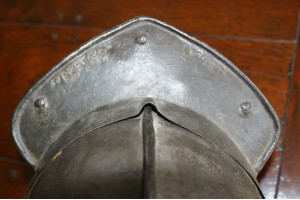 17th Century English 3 Bar Lobster Tailed Helmet