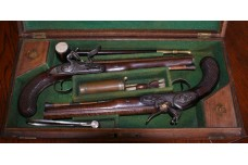 Cased Pair of English Dueling Pistols by Twigg of London