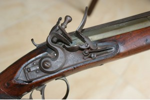 19th Century Flintlock Blunderbuss with Over Flick Bayonet , Borough, London.