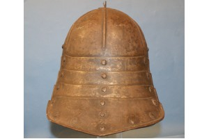 A Mid 17th Century Lobster Tailed Helmet