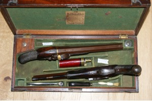 Cased Pair of English Duelling Pistols by Durs Egg of London
