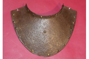 Unusual Early 17th Century Gorget with Traces of Gilt Decoration.