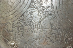 A Late 16th Century  Italian Etched Morion - Cabasset