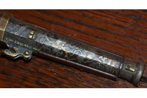 A very unusual 19th Century Miniature Japanese Matchlock (Teppo).