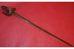 A  Very Nice 17th Century Mortuary-hilted Broadsword of the type used during the English Civil War.