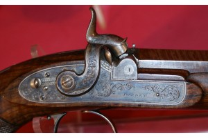 A fine cased pair of percussion target pistols by Purdey of London