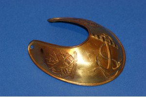 A very Rare Royal Dock Yard Vounteers Officers Gorget