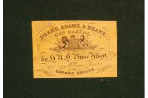 Superb Cased 54 Bore Adams Patent Percussion Revolver Sold!