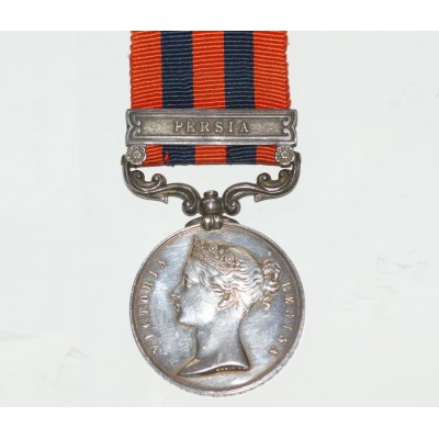 India General Service Medal 1854 with Persia Clasp to J.Denby, 78th Highlanders.
