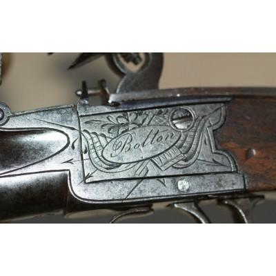 Flintlock Box-Lock Pistol by Bolton of Wigan