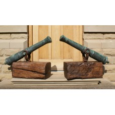 A Fine Pair of Georgian Bronze Naval Swivel Cannon