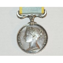 Crimea Medal  with no clasp, Impressed Naming to Salomez *H*S*Off*1st *comp* Gelie*G*I*