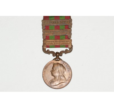 India General Service Medal 1895(1st Type) with Three Clasps.