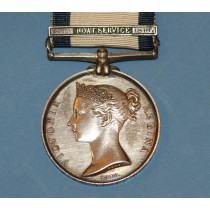 Naval General Service Medal with 16th July 1806 Boat Service Clasp to K.S.Parker, 2nd Lieut R.M.