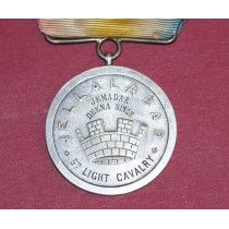 "Jellalabad Medal,1842, ""Mural"" Crown, Engraved to Deena Singh, 5th Light Cavalry."