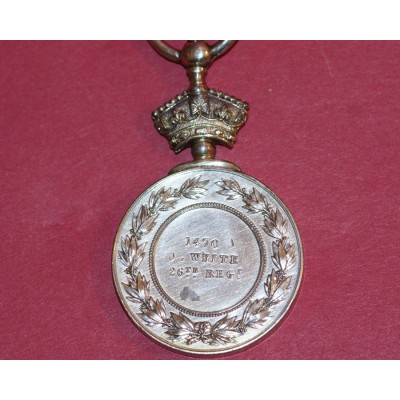 Abyssinia Medal to 1470. J. White,26th REGT.
