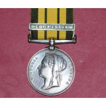 Ashantee Medal 1873-74 with Coomassie Clasp to 2028 Pte W. Strath,42nd Highlanders.