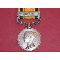 South Africa Medal with 1878-79 Clasp to 1577.PTE A Candeland, 1/13th Foot.