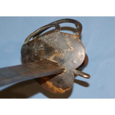 Brass Hilted British Military Hanger Circa 1740
