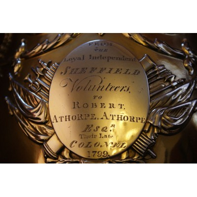 Superb Presentation Silver Gilt Trophy  Presented to Col Robert A. Athorpe