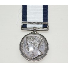 A Naval General Service Medal  for Navarino to W.C.Coffin, R.N. Midshipman.