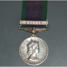General Service Medal with Borneo Clasp to RM 23029. J . Booth. MNE. R.M.