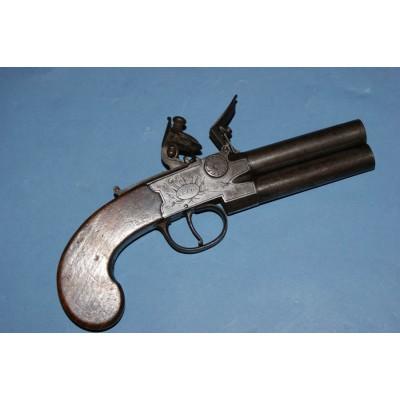 Calverts of Leeds O/U Tap Action Flintlock Pistol