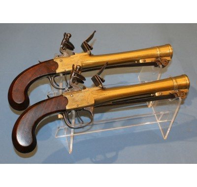 Brace of Waters Patent Blunderbuss Pistols